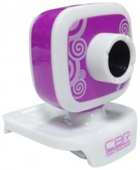 Веб-камера CW-835M Silver, универс. крепление, 4 линзы, 1,3 МП, эффекты, микрофон, CW 835M Purple