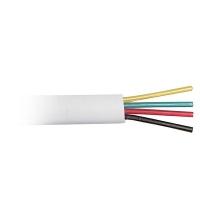 Кабель Hyperline UTC2x2x0.12-C2-PATCH-INDOOR (TC-4-WH) Кабель телефонный, плоский, 4 провода, многожильный, белый (100м)