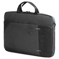 """Сумка для ноутбука Continent CC-205GB до 15,6"""" (серый с синей отделкой, нейлон/полиэстер, 40 x 30 x 6 см.)"""