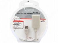 Кабель UAE016 USB 2.0 кабель удлинительный !!!Активный!!! 4.5м AM/AF Gembird
