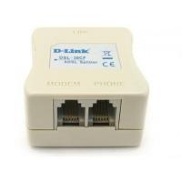 Сплиттер D-Link DSL-30CF/RS ADSL Annex A 1xRJ11 вход и 2xRJ-11 выход с 12cm телеф кабелем