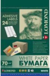 Универсальные этикетки Lomond 2100165 А4 70x37мм (50л)