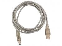 Кабель USB 2.0 AM/BM 1.8м Vcom прозрачная  изоляция