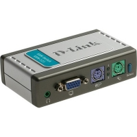 Коммутатор консоли D-Link KVM-121, 2-port KVM Switch with build in cables, AT&PS/2, Audio Support