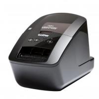 Принтер для наклеек Brother P-Touch QL-720NW (бумажные/пленочные ленты DK 12/17/29/38/50/62 мм, 150 мм/с (93 наклеек/мин), 300 и 300х600 т/д, автообрез., печать ШК, USB 2.0, WiFi, Ethernet, RS-232, USB-кабель, ПО, 2 старт.рулона)
