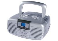 SUPRA BB-CD101 silver (Портативный широковещательный приемник с AM/FM-тюнером, совмещенный с проигрывателем CD/MP3-дисков, с лазерным считывающим устройством, с питанием от сети и возможностью работы от батареек, выходная мощность 2х1.5 Вт, цвет: серебро)