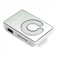 МР3/MPEG4-плееры Perfeo Perfeo  цифровой аудио плеер Music Clip Color, белый (VI-M003 White)