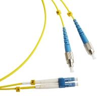Патч-корды Hyperline FC-9-FC-LC-UPC-1M Патч-корд волоконно-оптический (шнур) SM 9/125 (OS2), FC/UPC-LC/UPC, duplex, LSZH, 1 м