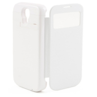 Чехол с аккумулятором Gmini mPower Case MPCS45F White, для Galaxy S4, 4500mAh, Flip cover