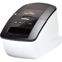 Принтер для наклеек Brother P-Touch QL-570 (бумажные/пленочные ленты DK 12/17/29/38/50/62 мм, 110 мм/с (68 наклеек/мин), 300 т/д, автообрез., печать ШК, USB 2.0, USB-кабель, ПО, 2 старт.рулона)