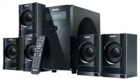 Колонки Sven HT-200  5.1  5*12+20 Вт ПДУ  FM-тюнер и часы