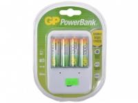 Зарядное устр. GP Зарядное устр. PowerBank 13 часов + аккум. 4шт. 1300mAh (GP PB420GS130-CR4)