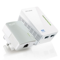 Адаптер TP-Link TL-WPA4220KIT 300Mbps Wireless AV500 Powerline Extender, 500Mbps Powerline Datarate, 2 10/100Mbps Fast Ethernet ports, HomePlug AV, Pl
