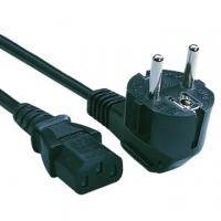 Кабель Cord Power Gembird /Cablexpert 3.0м, Schuko- C13, 4А, черный, с зазем.