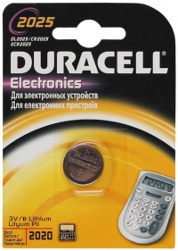 Батарея Duracell DL2025 CR2025 (1шт)
