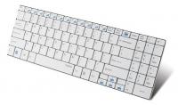Клавиатура Rapoo E9070 белый USB Беспроводная 2.4Ghz Да