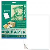 Универсальные этикетки Lomond белые/А4/105x48 мм/50 листов