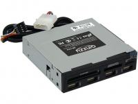 "Картридер <All-in-1> USB 2.0 internal 3.5"" Black + 4 USB port, Ginzzu OEM (GR-137UB)"