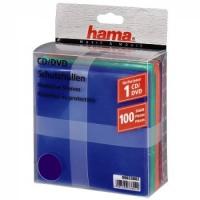 Конверт Hama на 1CD/DVD H-33802 разноцветный (упак.:100шт)