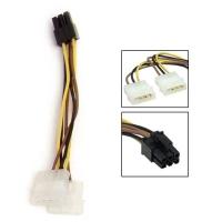 Кабель питания 2хMolex(2x4pin) ->PCI-E 6pin, для подкл. видеокарты к б/п, Gembird CC-PSU-6