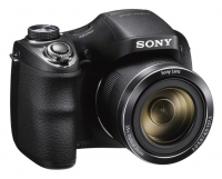 "PhotoCamera Sony Cyber-shot DSC-H300 black 20.1Mpix Zoom35x 3"" 720p SDHC MS Pro Duo Super HAD CCD IS opt HDMI AA"