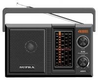 SUPRA ST-122 black ( AM/FM/SW 1-2. Расширенный FM диапазон 64-108 МГц, 4- х диапазонный тюнер.Питание 3 В, от  2-х батарей (R20), Выходная мощность: 1000 мВт.Электропитание: 220В, 50 Гц, Цвет:  черный)
