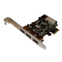 Контроллер Orient VA-3U31PE (PCI-E, 3 ext/1 int, USB 3.0, доп разъём питания, VIA VL800) Ret