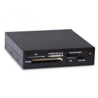 """Картридер <All-in-1> USB 2.0 internal 3.5"""" Black, Ginzzu OEM (GR-116B)"""