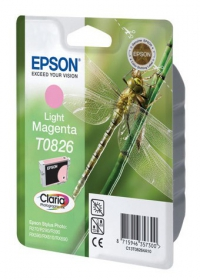 Картридж струйный Epson C13T11264A10 T0826 светло-пурпурный R270/290/RX590 (замена С13T08264A)
