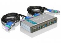 D-LINK DKVM-4K/A7A KVM-переключатель на 4 компьютера ( 2 x кабеля 1,8м в комплекте)