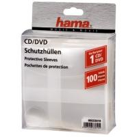 Конверт Hama на 1CD/DVD H-62672 белый (упак.:100шт)