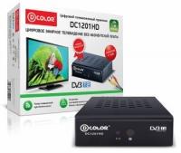 Ресивер DVB-T2 D-Color DC1201HD ECO черный