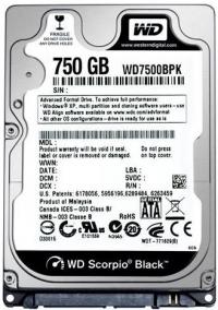 "Жесткий диск WD Original SATA-III 750Gb WD7500BPKX Black (7200rpm) 16Mb 2.5"""