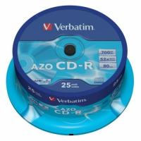 Диск CD-R Verbatim 700Mb 52x DataLife+ Cake Box (25шт) 43352