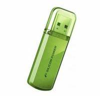 Флеш Диск Silicon Power 4Gb Helios 101 SP004GBUF2101V1N USB2.0 зеленый