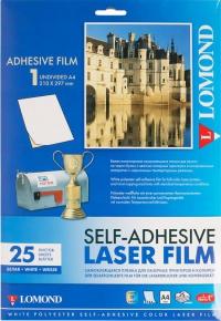 Самоклеящаяся пленка Lomond для струйной печати, А4/210x297мм/белая/25 листов