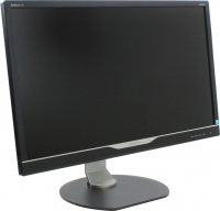 "Монитор Philips 28"" PHILIPS 288P6LJEB/00(01) Silver-Black с поворотом экрана (4K, LED, LCD, Wide, 3840x2160, 1(5) ms, 170°/160°, 300 cd/m, 50M:1, +DVI, +DisplayPort, +HDMI, +MM, +MHL, +4xUSB)"