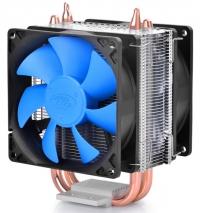 Вентилятор Deepcool ICE BLADE 200M Soc-AMD/1150/1155/1156/2011/ 4pin 18-30dB Al+Cu 130W 390g скоба Dual-90mm-fan RTL