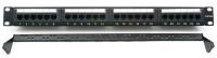 Патч панель Cablexpert NPP-C624CM-001 с задним организатором, 24 порта категории 6,