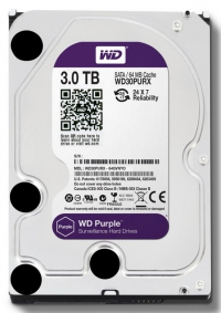 Жесткий диск WD Original SATA-III 3Tb WD30PURX Video Purple (5400rpm) 64Mb 3.5""