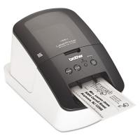 Принтер для наклеек Brother P-Touch QL-710W (бумажные/пленочные ленты DK 12/17/29/38/50/62 мм, 150 мм/с (93 наклеек/мин), 300 и 300х600 т/д, автообрез., печать ШК, USB 2.0, WiFi, USB-кабель, ПО, 2 старт.рулона)