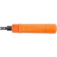 Монтажный инcтрумент Hyperline HT-3140 (HT-314B) Инструмент для заделки витой пары (камера хранения, регулировка ударного эффекта, нож в комплект не входит)