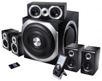 Колонки Edifier S550 Encore Black  {5 сат. + сабвуфер, 240W + 5x60W RMS,20-20000Гц, дерево, проводной пульт ДУ TFT дисплей+ беспроводной пульт ДУ, в двух коробках,new}