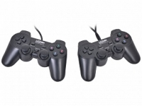 Геймпад 3Cott Двойной  GP-02 12 кнопок, вибрация, USB, черный