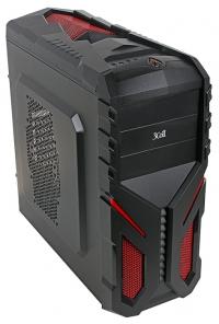 """Корпус 3Cott 3C-ATX136G """"Shogun"""" для игрового компьютера, ATX, блок питания 700 Вт 80+ PFC, выходы USB 2.0x2 + USB 3.0x1, HD Audio, размер 390*195*405"""