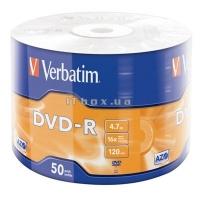 Диск DVD-R Verbatim 4.7Gb 16x (50шт) (43788)