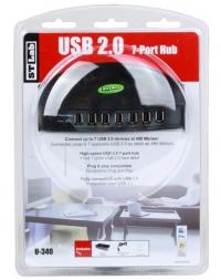 Контроллер STLab (U340) Hub 7 ports USB 2.0, Black RTL