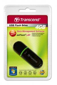 Флеш Диск Transcend 4Gb JetFlash 300 TS4GJF300 USB2.0 черный
