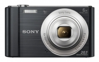 "PhotoCamera Sony Cyber-shot DSC-W810 black 20.4Mpix Zoom5x 2.7"" 720p SDHC MS Pro Duo Super HAD CCD IS el NP-BN1"