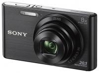 "PhotoCamera Sony Cyber-shot DSC-W830 black 20.4Mpix Zoom8x 2.7"" 720p 27Mb SDHC MS Pro Duo Super HAD CCD IS el NP-FH50"